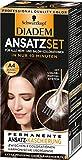 Schwarzkopf Diadem Ansatzset Haarfarbe, A4 Dunkelbraun, 3er...