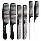 6 Stücke Friseur Haar Kamm Set, Haarschneide kämme...