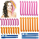 32Pcs Magic Spiral Lockenwickler Spiral Curls Styling Kit...