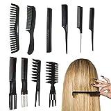 10 Stück Friseur Haar Kamm Set Haarschneide kämme Hair...